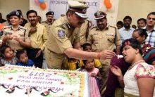 City Police Commissioner celebrate New Year at Shishu Vihar