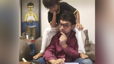 Photo of Aamir Khan 'lost in deep thought' with son Azad