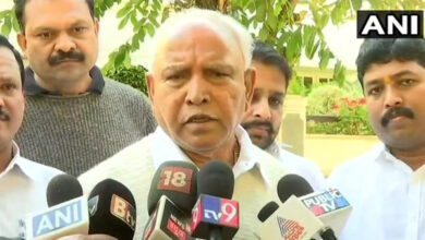 Photo of Bangalore: BS Yeddyurappa along with other BJP leaders staged a Dharna against JSW land deal