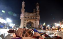 Homeless brave winter nights on the footpath in Hyderabad