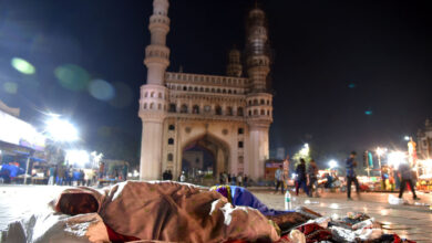 Photo of Homeless brave winter nights on the footpath in Hyderabad