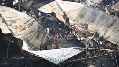 "Photo of Second day view at iconic #Numaish after ""fire accident"""
