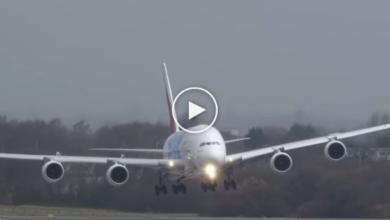 Photo of Emirates plane makes extraordinary landing, video goes viral