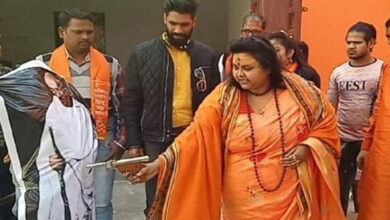 Photo of Hindutva outfits violating the sanctity of saffron attire