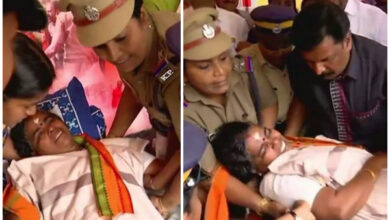 Photo of Sabarimala Temple issue: VT Rama, on hunger strike, shifted to hospital