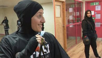 Photo of Khadijah Safari, a Islam convert teaches women self defence