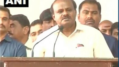 Photo of Kumaraswamy's son JD-S candidate from Mandya LS seat