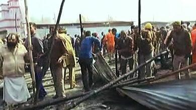 Photo of Kumbh Mela: Fire at Digambar Akhada camp