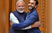 Check out Ranveer Singh's 'Jaadoo ki jhappi' with PM Modi
