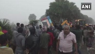 Photo of Odisha: 2 dead, 37 injured after bus overturns