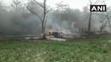 Photo of IAF Jaguar crashes in UP's Kushinagar