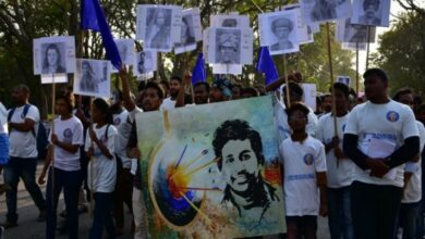 Photo of Rohith Vemula's death anniversary: His mother vows to fight communal forces