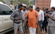 BJP MLA Raja Singh stops van carrying cows