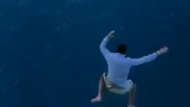 Photo of Man jumped from 11th floor of a Cruise ship for video, banned from Royal Caribbean for life