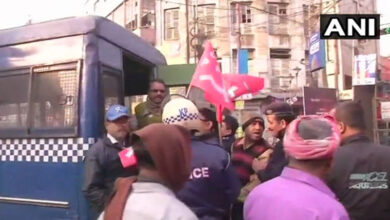 Photo of Trade union strike: CPI-M workers vandalise school bus carrying children