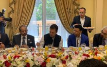 #RahulGandhiInUAE: Rahul Gandhi at Yusuffali home (owner of Lulu Group) in Abu Dhabi
