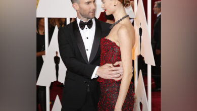 Photo of Behati Prinsloo and Adam Levine met 'over email'!