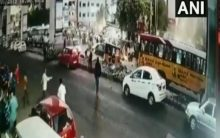 Hyderabad: 1 dead, 3 injured after bus rams into crowd