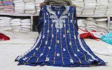 Lucknowi Chikan embroidery dresses in Exhibition Hyderabad