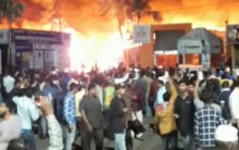 Massive fire breaks out at Numaish Hyderabad