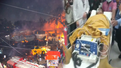 Photo of Update details of Exhibition fire, almost 150 stalls catch fire