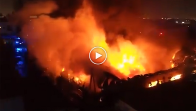 Photo of Massive fire breaks out in Sharjah, triggers panic