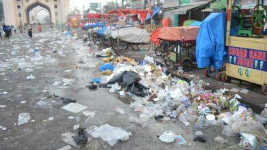 Photo of Historic Charminar turns a Garbage bin