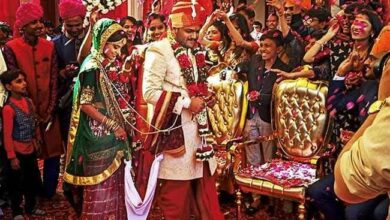 Photo of Photos: Hardik Patel weds long-time girlfriend in a simple ceremony