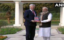 PM Modi holds talks with ex-Canadian PM Stephen Harper
