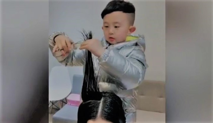 Video Of Chinese Kid Giving Professional Hair Cut Goes Viral