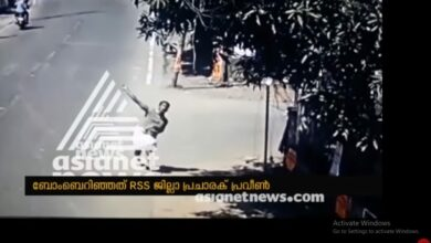 Photo of RSS worker hurled bombs at police station; CCTV footage confirms