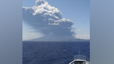 Photo of Volcanic Mount Shindake erupts in Japan