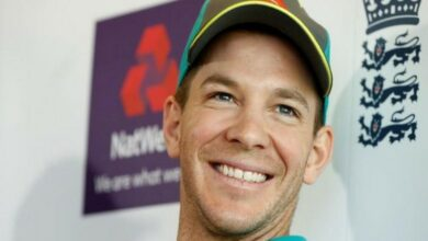 Photo of Tim Paine shares light moment amid press-conference