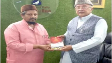 Photo of Mr. Zahid Ali Khan gets the gift of books