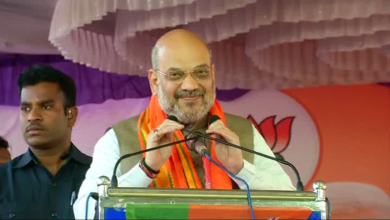 Photo of Amit Shah files nomination, vows to pursue Advani's legacy