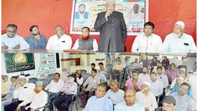 Photo of Condolence meeting of Hakeem Syed Ghousuddin, Journalist Faiz Mohammed Asgar held
