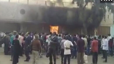 Photo of Fire breaks out near passenger waiting room at Bhubaneshwar railway station