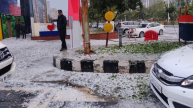 "Photo of ""Manali in Noida"": Twitter in tizzy after thick cover of hail near Delhi"