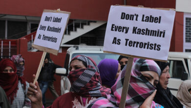 Photo of Protest in Kashmir ahead of Article 35A hearing