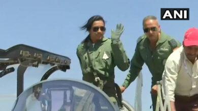 Photo of PV Sindhu flies Tejas at Bengaluru Air Show