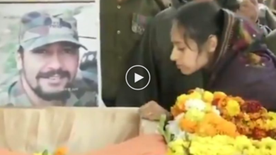 Photo of Pulwama encounter: Martyr Major's wife salutes him, heartbreaking video goes viral