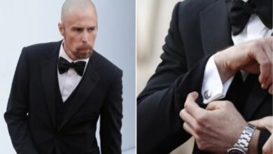 Photo of Oscars 2019: Sam Rockwell's cufflinks are a tribute to his dog Sadie
