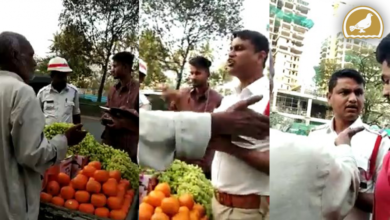 Photo of Hyderabad Traffic police misbehaves with Fruit Vendor at Shaikpet Road