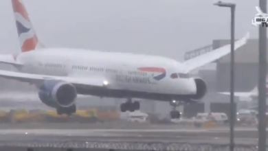 Photo of Hyderabad-London flight bounced while landing due to gusty winds, watch how pilot controlled it