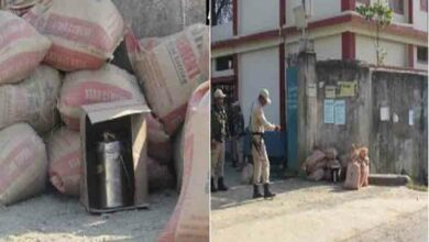 Photo of IED bomb found outside school in Imphal's Canchipur