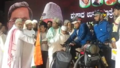 Photo of 2 youngsters from Bangalore set off for Hajj on bicycle; watch video