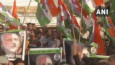 Photo of TMC workers compare PM Modi with Adolf Hitler