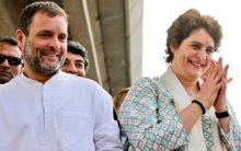Priyanka Gandhi wows crowds in Lucknow along with Rahul, Scindia