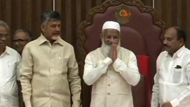 Photo of M.A Sharief elected AP Council Chairman