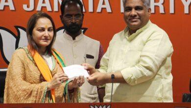 Photo of Jaya Prada who joined Bharatiya Janata Party (BJP)